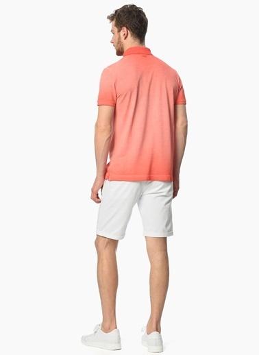 Network Polo Yaka Tişört Pembe
